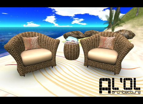 Woven Chair Set by AL'OL Homes | Teleport Hub | SECOND LIFE FREEBIES | Scoop.it