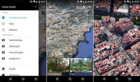 Geoinformación: Google Earth 8.0 para Android integra nueva interfaz Material Design | #GoogleEarth | Scoop.it