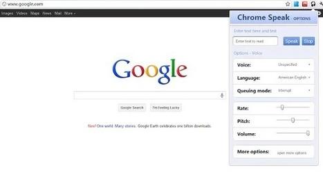 Las 4 mejores extensiones para convertir Texto a voz en Google Chrome | #TRIC para los de LETRAS | Scoop.it