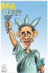 Caricature- This is the peace of Obama the Lord of War | malala-fever | Scoop.it