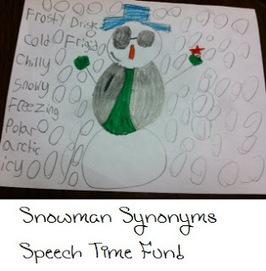 DIY Snowman Synonyms! | Speech-Language Pathology | Scoop.it