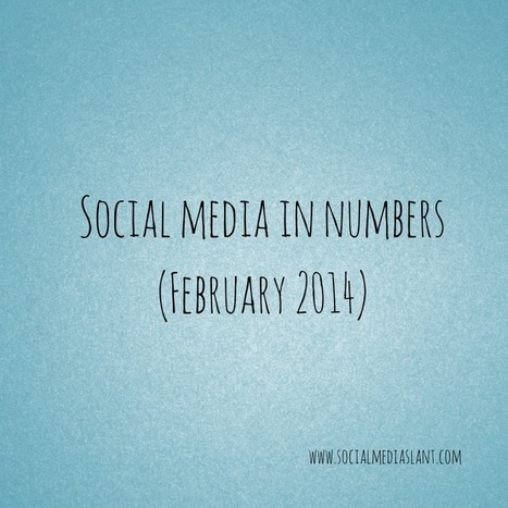 Social media in numbers (February 2014) | Business in a Social Media World | Scoop.it