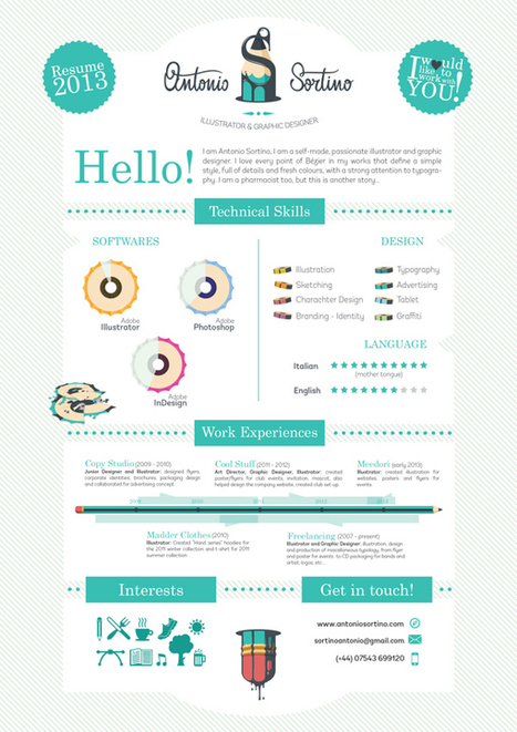 20 Cool Resume & CV Designs | EL EMPLEO | Scoop.it