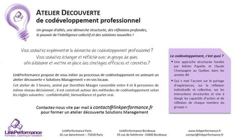 Découvrez le CoDéveloppement professionnel | LinkPerformance Formation, Coaching et Facilitation | Codéveloppement | Scoop.it
