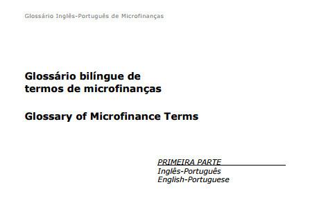 (PT) (EN) (PDF) - Glossário bilíngue de termos de microfinanças | cgap.org | translation | Scoop.it