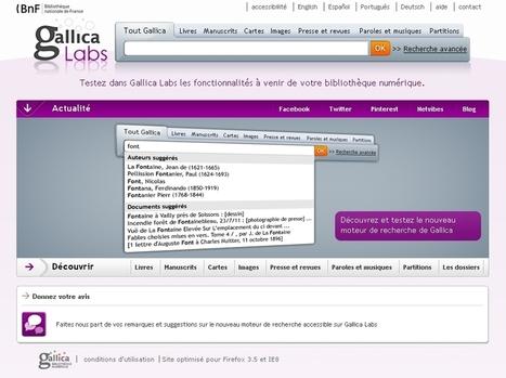 Testez le futur moteur de recherche de Gallica ! « ALLWEBTUTS | Univers de la veille | Scoop.it
