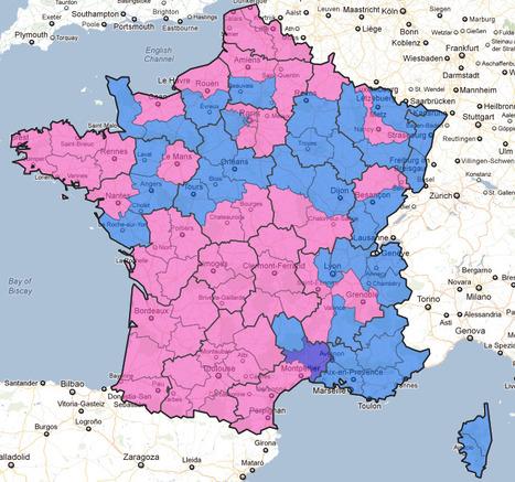 Carte de France des résultats du premier tour de l'élection présidentielle | TICE & FLE | Scoop.it