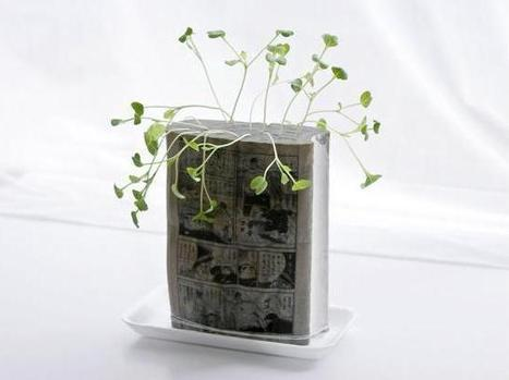 When Plants Grow Out of Old Manga Comics - 1-800-RECYCLING | Green Office | Scoop.it