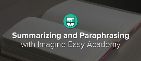 Teaching Students How To Summarize and Paraphrase in their Own Words | Edtech | Scoop.it