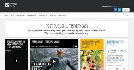 17 Best Pinterest Style WordPress Themes 2014 | WordPress Themes | Scoop.it