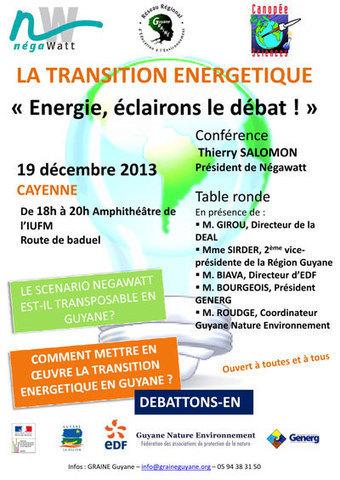 Conférence-débat sur la transition énergétique - Le Petit journal de Kourou | La Région Guyane | Scoop.it