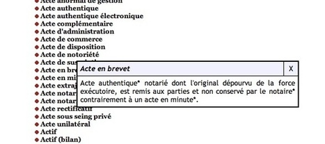 (FR) Fantastic French notarial glossary | 1001 Glossaries, dictionaries, resources | Scoop.it