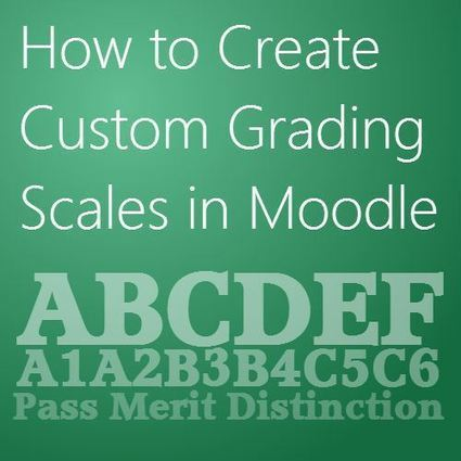 How to Create Custom Grading Scales in Moodle | Homeschooling and eLearning | Scoop.it
