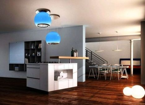 Faber Arkea kitchen hood with up & down technology doubles as lighting fixture - HomeCrux | DamnGeeky | Scoop.it