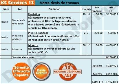 KS Services 13: Chiffrage travaux réalisation d'une semelle béton : Bouches du Rhône | Courtier en travaux Bouches du Rhône | Scoop.it