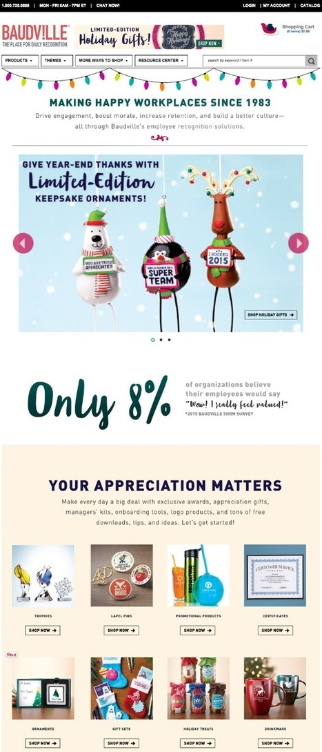 Holiday Homepage Designs: 12 Cheerful Examples From Real Businesses | Social Media, SEO, Mobile, Digital Marketing | Scoop.it