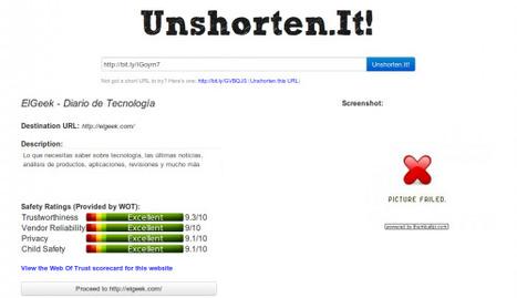 Averigua qué enlace se esconde tras un link acortado con Unshorten.It!   Herramientas digitales   Scoop.it