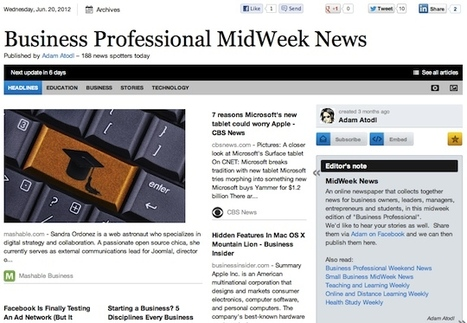 June 20 - Business Professional MidWeek News | Business Futures | Scoop.it