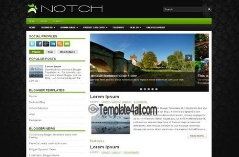 Green Black Business Blogger Template Download | Blogger themes | Scoop.it