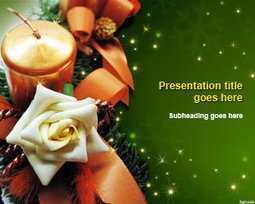 Christmas Decor PowerPoint Template | Free Powerpoint Templates | PowerPoint Presentation Library | Scoop.it