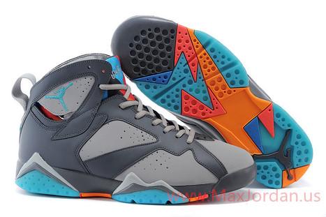 Men Nike Air Jordan 7 Grey Blue Barcelona Days Leather Sneaker,Best quality nike air jordan 7 barcelona days sport shoes online sale | nike sneaker store | Scoop.it
