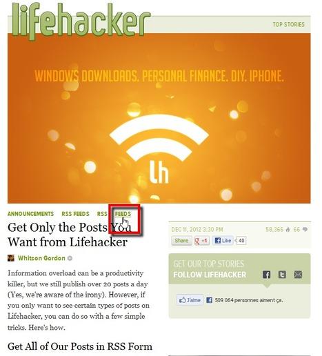 Get Only the Posts You Want from Lifehacker | RSS Circus : veille stratégique, intelligence économique, curation, publication, Web 2.0 | Scoop.it