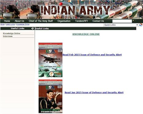 DSA magazine now on Indian Army website | Defence News Magazine in India-DSA | Scoop.it