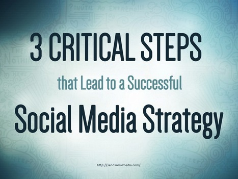 3 Critical Steps that Lead to a Successful Social Media Strategy   Social Media How To   Scoop.it