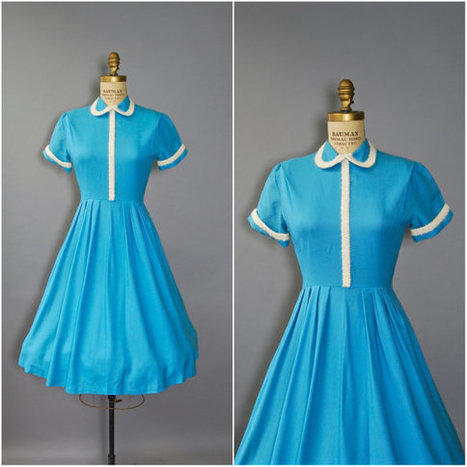 1950's Day Dress  | whats been spotted on etsy today? | Scoop.it