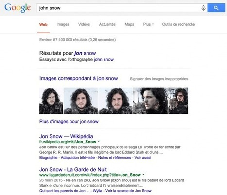 Le véritable Jon Snow ou comment Google altère le monde | Conscience - Sagesse - Transformation - IC - Mutation | Scoop.it