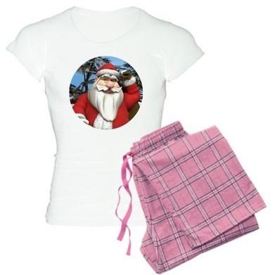 Cute Santa T-Shirt PJ | For The Love Of Tees | CafePress Designs Via Flamin Cat Designs And Friends | Scoop.it