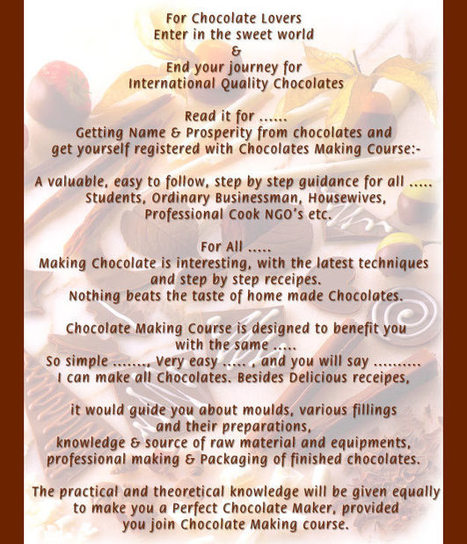 Homemade Chocolate Making Course In Delh | candle making classes in india | Scoop.it