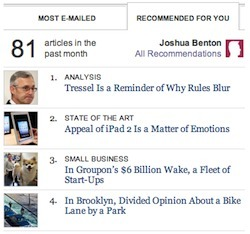 The NYT adds recommendation features to its article pages | Brand & Content Curation | Scoop.it