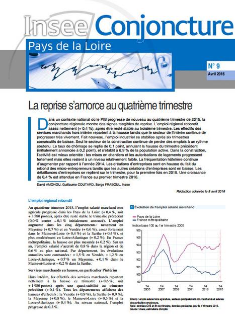 Insee > Conjoncture - La reprise s'amorce au quatrième trimestre | Observer les Pays de la Loire | Scoop.it