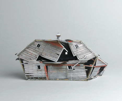 Miniature Paper Sculptures of AbandonedHouses | Artistic World | Scoop.it
