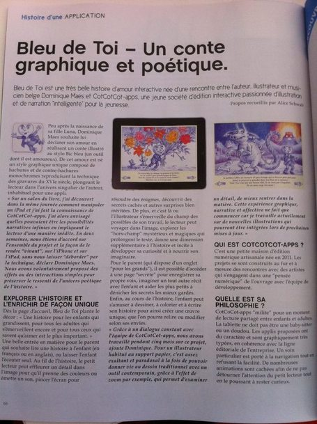 BLEU DE TOi - un conte graphique et poétique - Mobiles Magazine (Mars 2013) | Must Read articles: Apps and eBooks for kids | Scoop.it