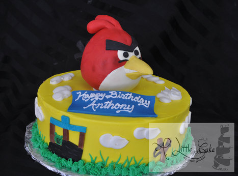Angry Bird Birthday Cake | Custom Cakes for You | Scoop.it