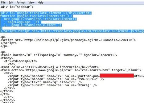 Dodaj tłumaczenie do swojej strony za pomocą skryptu Google   Grafika i tworzenie strony   Scoop.it