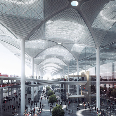 Designs for the 'world's LARGEST airport terminal under one roof' in Istanbul are revealed. | The Architecture of the City | Scoop.it