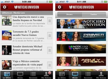 Univision Launches 'Noticias' Spanish-Language News App for iPhone, Android | Mobile Journalism Apps | Scoop.it
