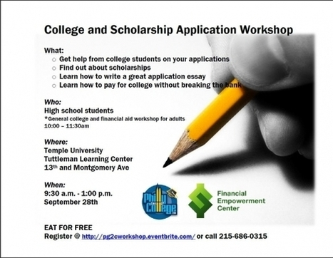 Free College Essay/Scholarship Application Workshop | OST Program Resources | Scoop.it