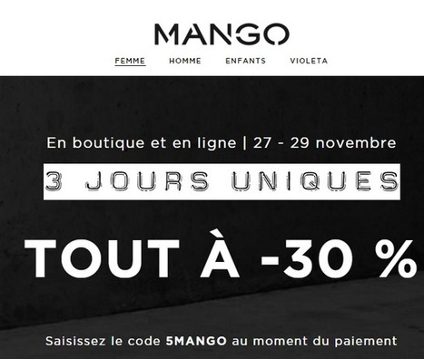 Black Friday 2015 en France : Les meilleurs codes promo  pour les fans de mode | News mode | Scoop.it