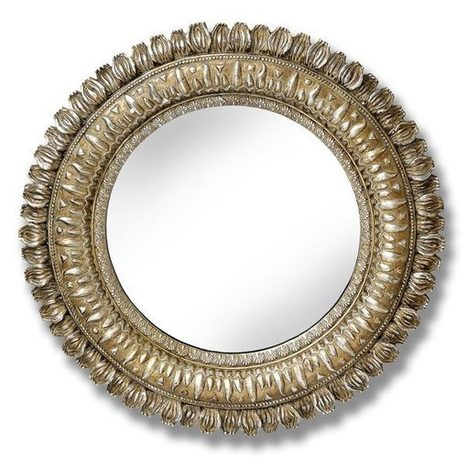 Round gold mirror | Antique Accessories | Scoop.it