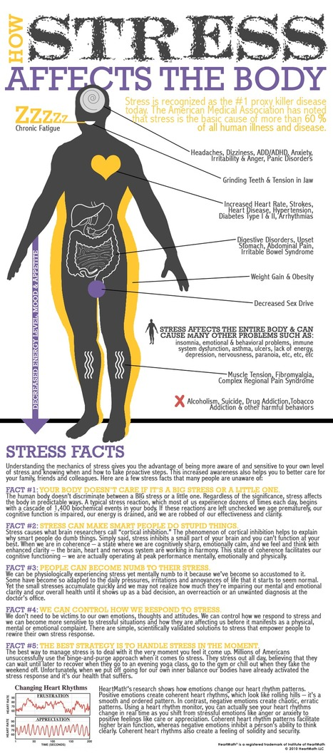 How Stress Affects The-Body  #Infographic | stress and anxiety | Scoop.it