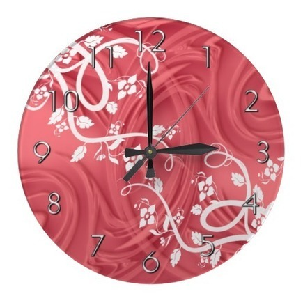 Curls Over Red With Filigree & Floral Wall Clocks | Z Artwork | Scoop.it