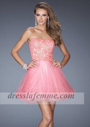 Short Coral Lace Beaded La Femme 20386 Prom Dresses [short coral prom dresses] - $162.00 : Cheap La Femme Dresses,Homecoming Dresses On Sale | sherri hill prom dresses 2014 | Scoop.it
