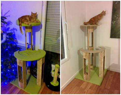 Arbre à Chat / Pallet Scratching Tree   1001 Pallets ideas !   Scoop.it