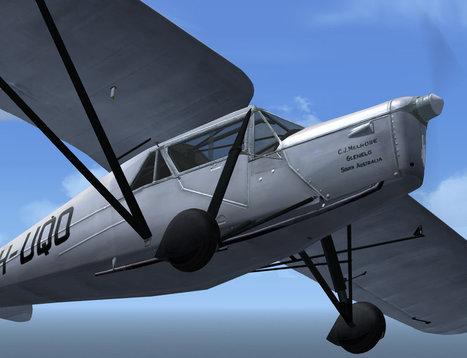 De Havilland DH-80 Puss Moth for FS9/FSX | Microsimulation | Scoop.it