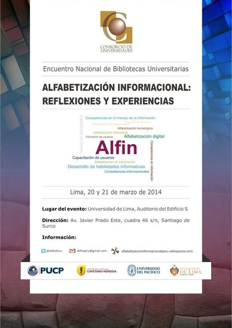 """Encuentro Nacional de Bibliotecas Universitarias   """"alfabetización informacional""""   Scoop.it"""