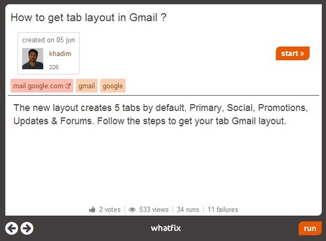 Whatfix : create, share and execute flows (interactive howto guides) | Time to Learn | Scoop.it